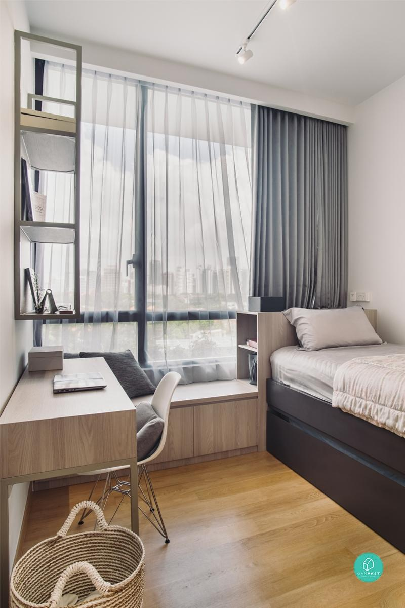 Platform Bed In Front Of Window