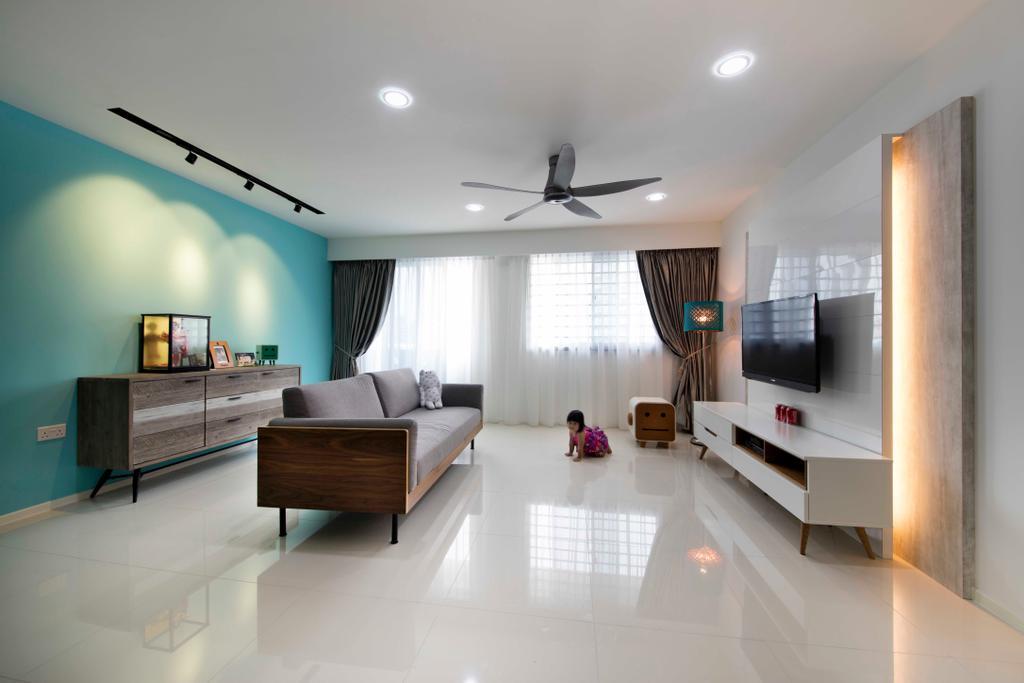 Scandinavian, HDB, Living Room, Punggol Walk (Block 310B), Interior Designer, ECasa Studio, Indoors, Room