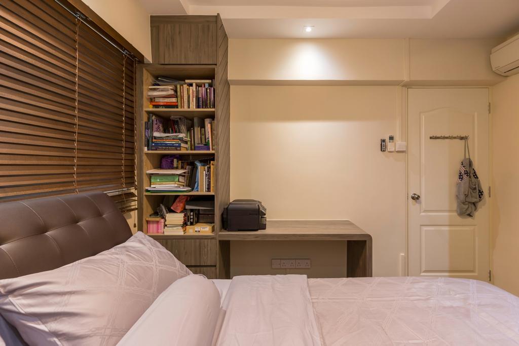 HDB, Bedroom, Tampines Street 21, Interior Designer, PHD Posh Home Design, Bookcase, Furniture