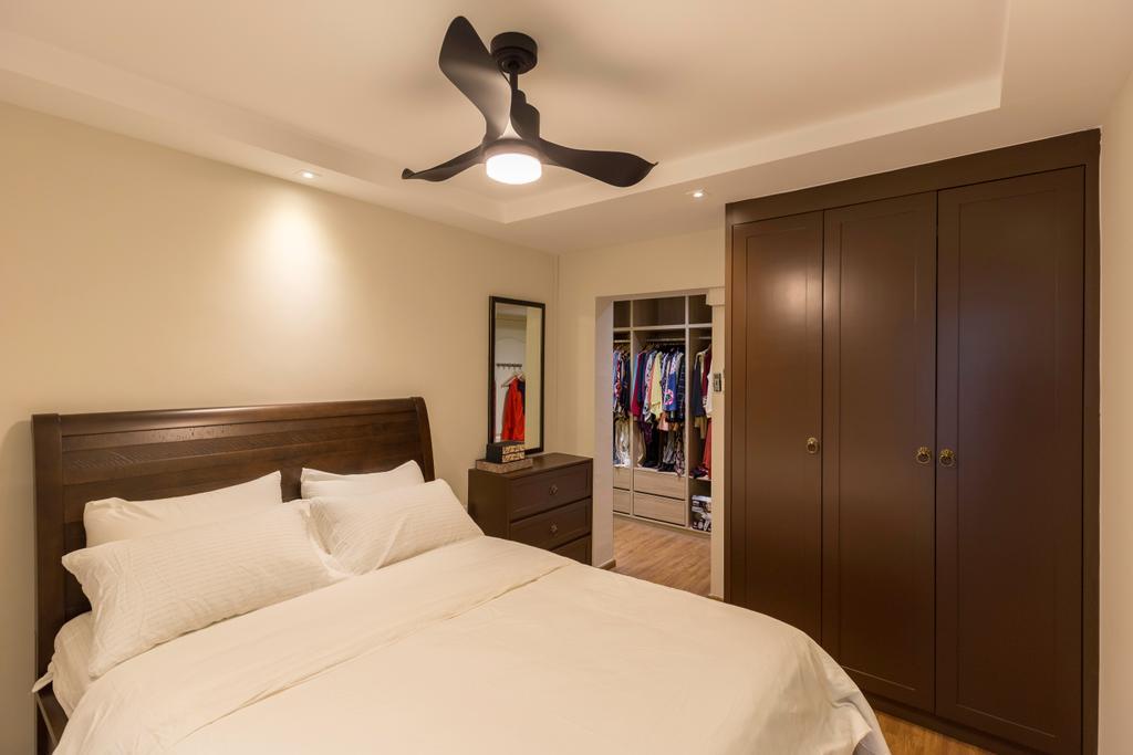 HDB, Bedroom, Tampines Street 21, Interior Designer, PHD Posh Home Design, Bed, Furniture, Indoors, Interior Design, Room