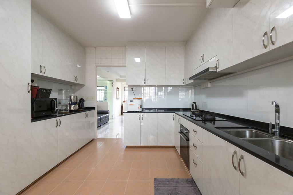 Modern, HDB, Kitchen, Tampines Street 33, Interior Designer, PHD Posh Home Design, Building, Housing, Indoors, Loft