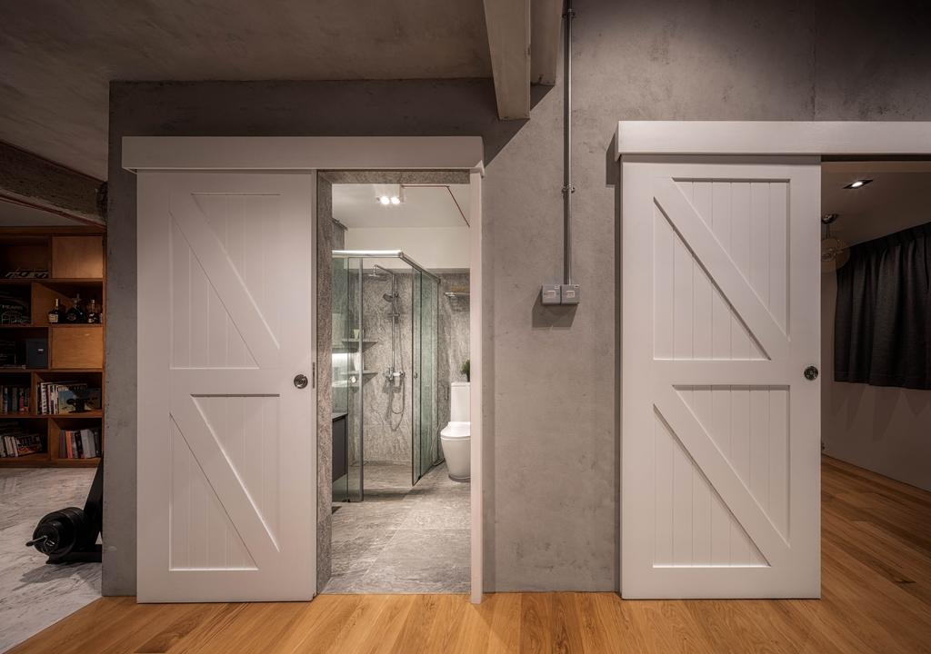 Industrial, Landed, Bathroom, Stirling Road, Interior Designer, Posh Home, Scandinavian, Paper