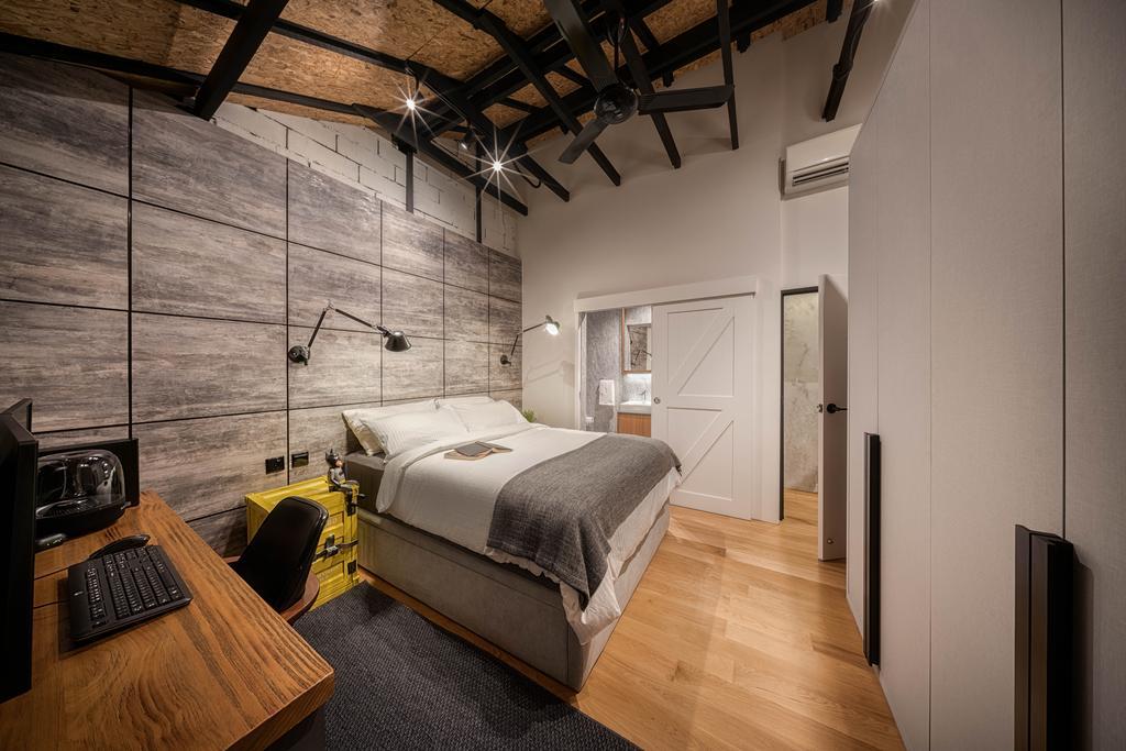 Industrial, Landed, Bedroom, Stirling Road, Interior Designer, Posh Home, Scandinavian, HDB, Building, Housing, Indoors, Loft, Interior Design, Room