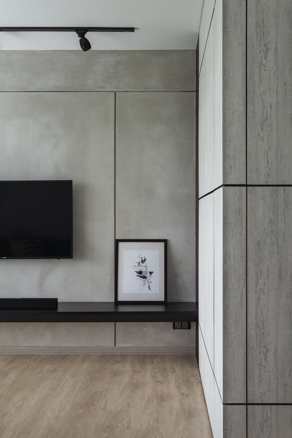 Industrial, HDB, Telok Blangah Heights, Interior Designer, KDOT, Wall