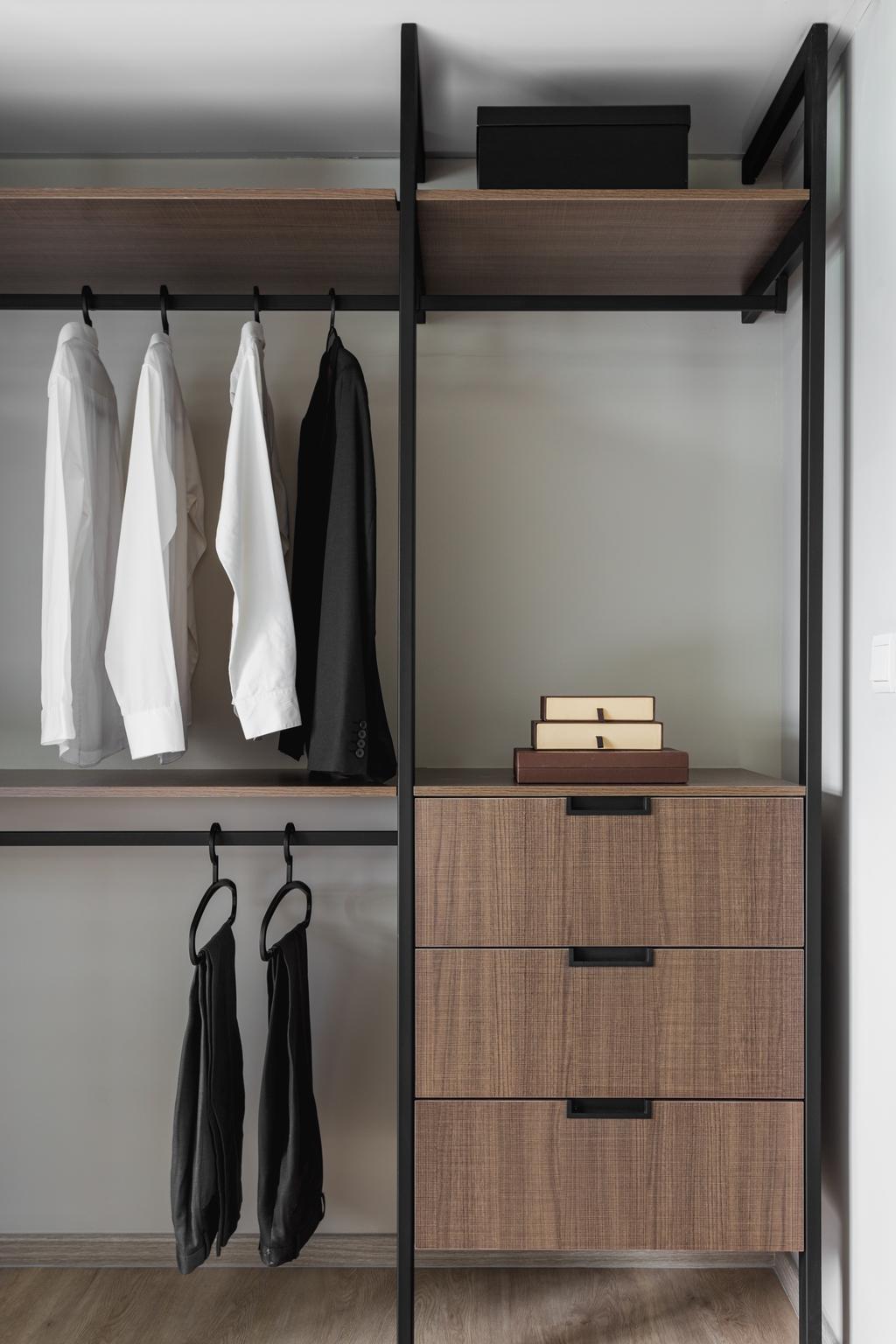 Industrial, HDB, Telok Blangah Heights, Interior Designer, KDOT, Cloak, Clothing