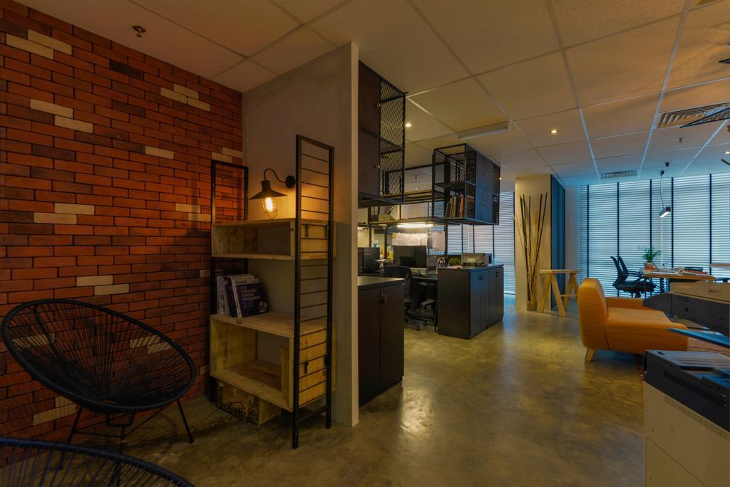 Dot Works Office, Commercial, Interior Designer, Dot Works, Industrial, Flooring, Chair, Furniture, Brick