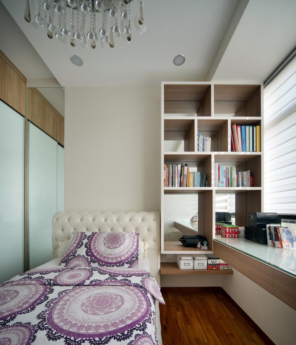 Modern, Condo, Study, Rochelle @Newton, Interior Designer, Briey Interior, Bedroom, Indoors, Interior Design, Room, Bookcase, Furniture