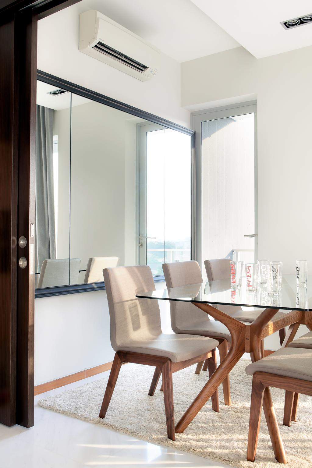 Modern, Condo, Dining Room, The Mercury, Interior Designer, Briey Interior, Contemporary, Chair, Furniture