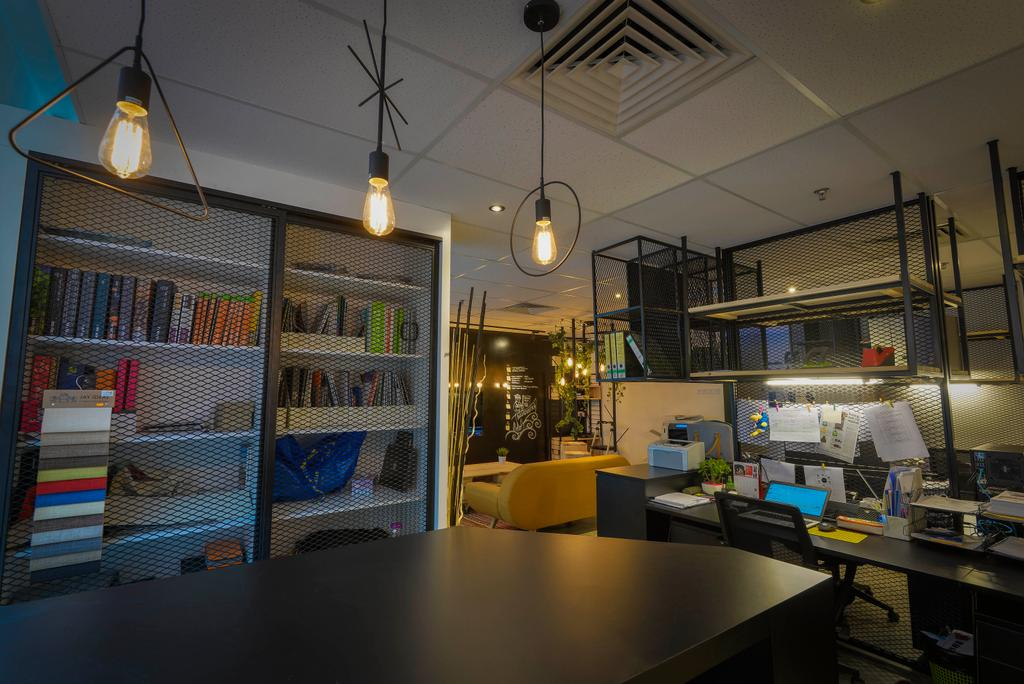 Dot Works Office, Commercial, Interior Designer, Dot Works, Industrial, Light Fixture