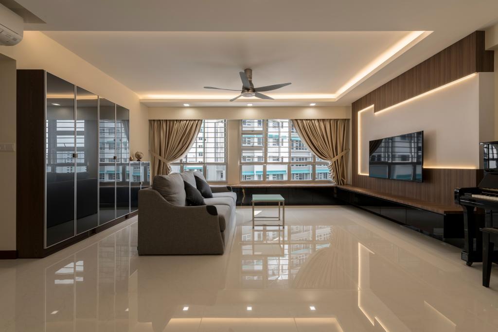 Modern, HDB, Living Room, Woodlands Rise, Interior Designer, DS 2000 Interior & Design, Couch, Furniture, Indoors, Interior Design