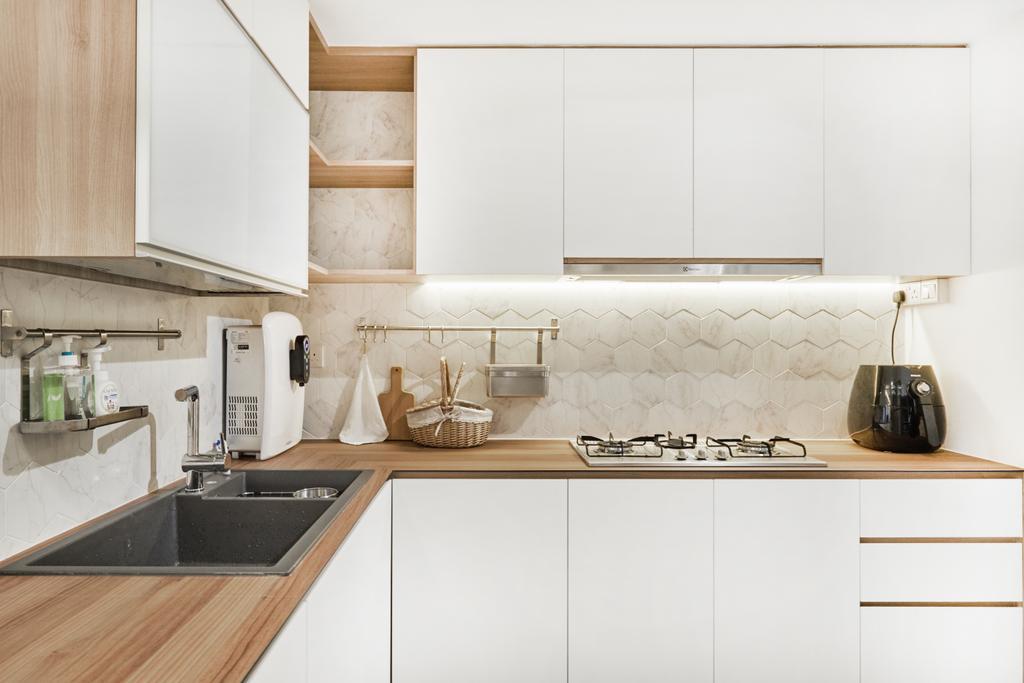 Scandinavian, Condo, Kitchen, Bellewaters, Interior Designer, Lemonfridge Studio, Indoors, Interior Design, Room