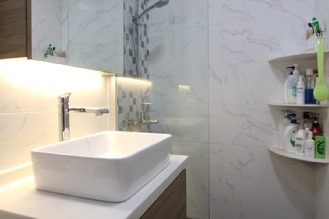 Sembawang Close, Aestherior, Modern, Bathroom, HDB, Bathtub, Tub