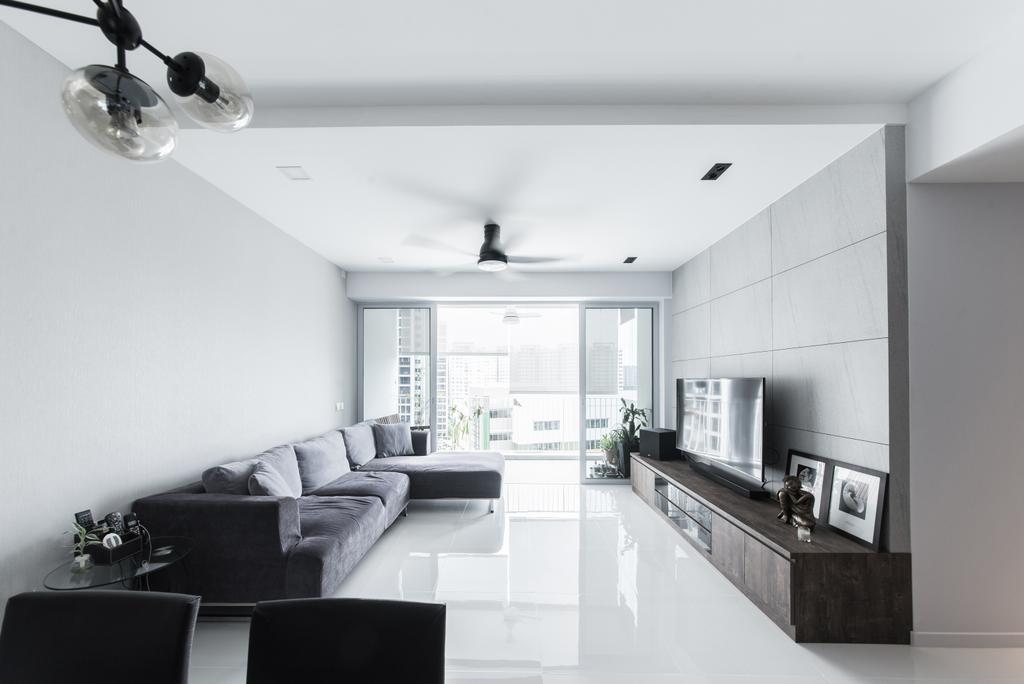 Minimalist, Condo, Living Room, Ecopolitan, Interior Designer, Carpenters 匠, Modern, Couch, Furniture, HDB, Building, Housing, Indoors, Loft