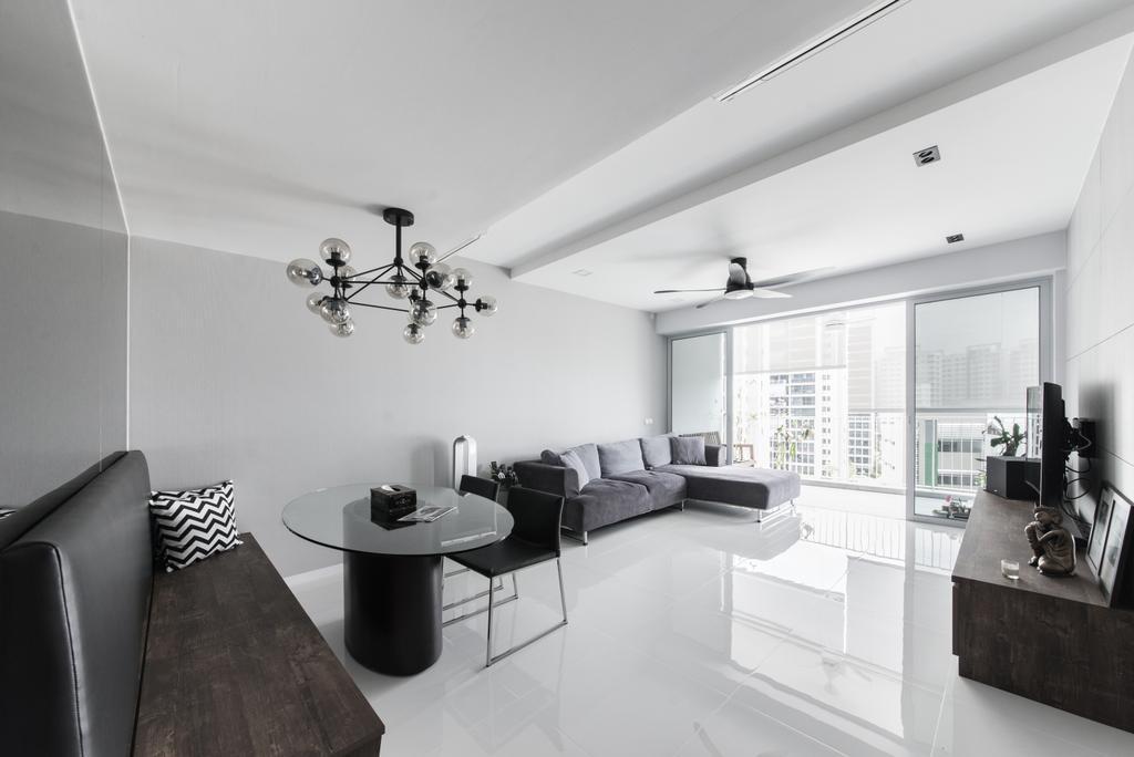 Minimalist, Condo, Dining Room, Ecopolitan, Interior Designer, Carpenters 匠, Modern, Chandelier, Lamp