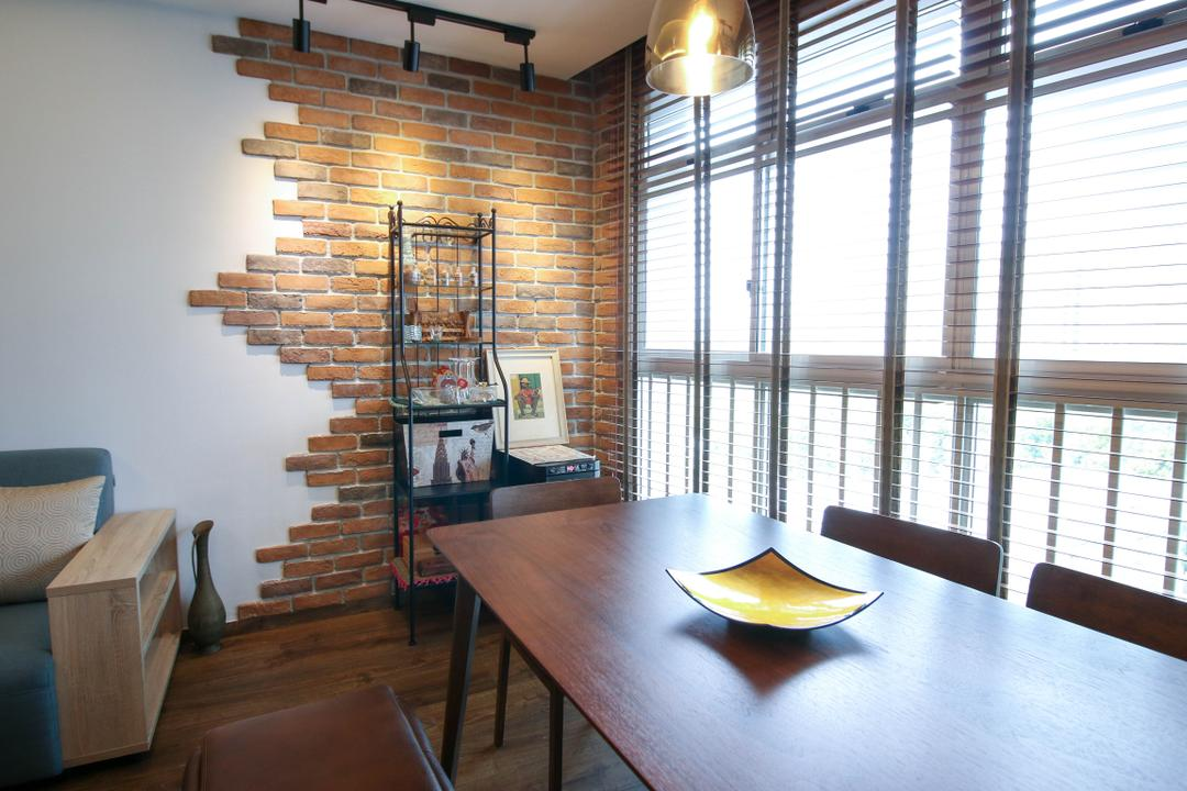 Compassvale Link, Carpenters 匠, Contemporary, Eclectic, Dining Room, HDB, Indoors, Interior Design, Room, Dining Table, Furniture, Table, Bench, Plywood, Wood, Chair, Building, Housing, Loft