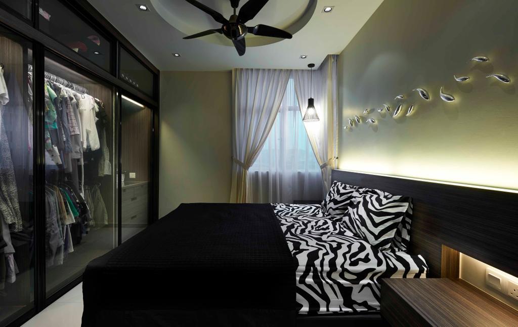 Contemporary, Condo, Bedroom, Midfields, Interior Designer, Surface R Sdn. Bhd., Propeller, Indoors, Interior Design, Room
