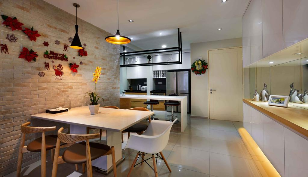 Contemporary, Condo, Dining Room, Midfields, Interior Designer, Surface R Sdn. Bhd., Sink, Chair, Furniture, Indoors, Interior Design, Room, Dining Table, Table, Apartment, Building, Housing