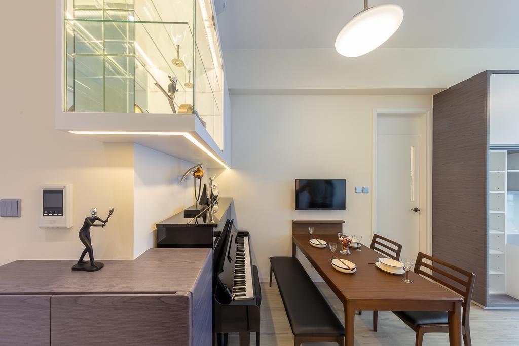 摩登, 私家樓, 飯廳, 一號銀海, 室內設計師, 和生設計, Dining Table, Furniture, Table, Indoors, Interior Design, Room, Couch, Chair