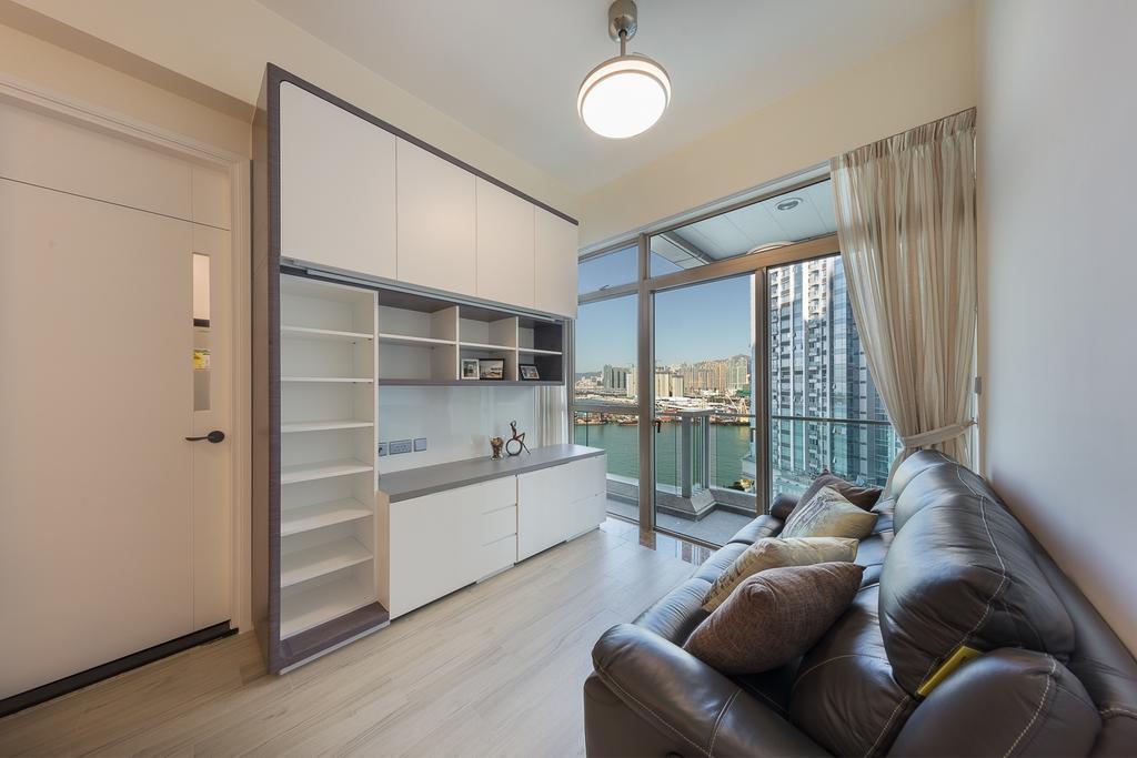 摩登, 私家樓, 客廳, 一號銀海, 室內設計師, 和生設計, Couch, Furniture, Chair, Indoors, Interior Design, 公屋/居屋, Building, Housing, Loft