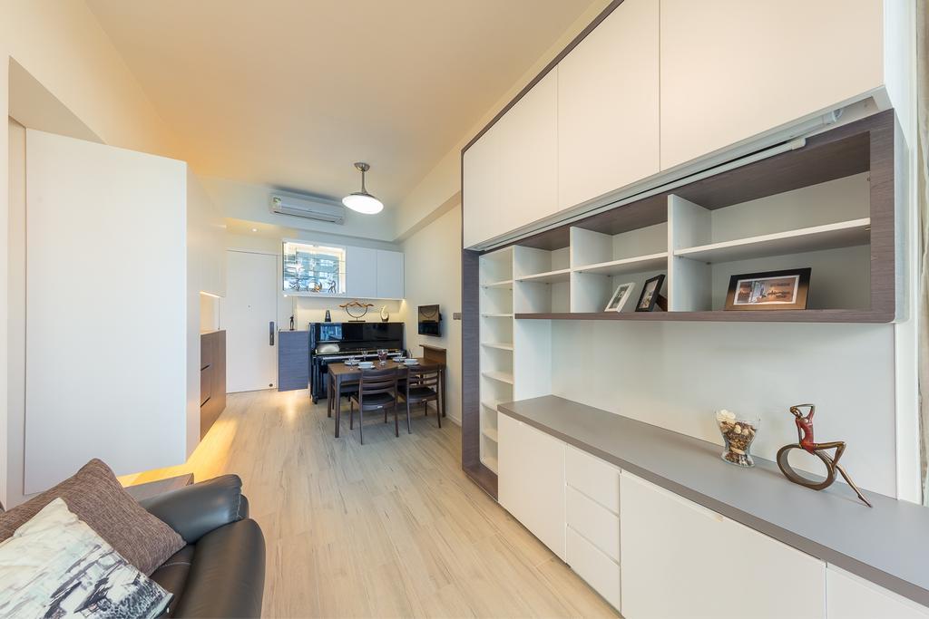 摩登, 私家樓, 客廳, 一號銀海, 室內設計師, 和生設計, 飯廳, Indoors, Interior Design, Room