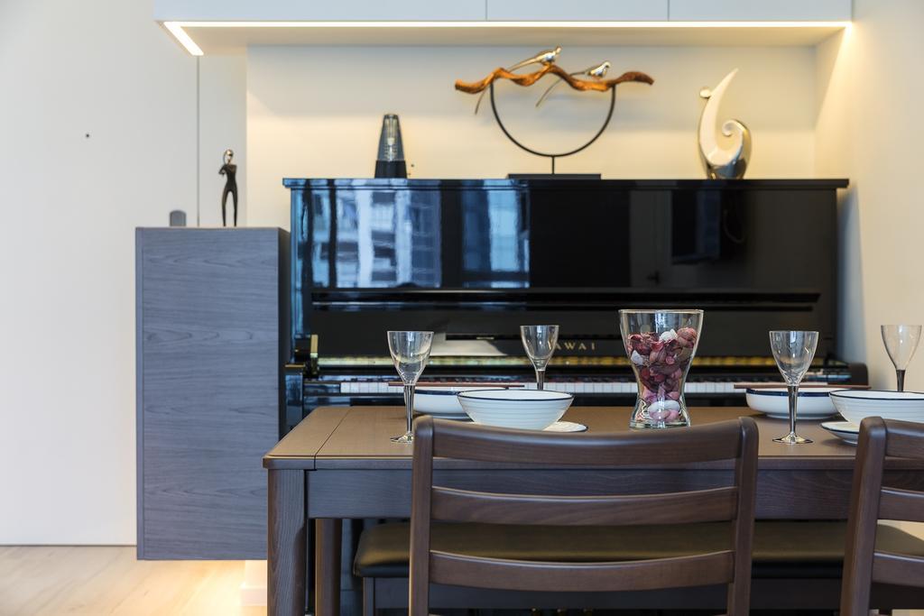 摩登, 私家樓, 飯廳, 一號銀海, 室內設計師, 和生設計, Chair, Furniture, Dining Table, Table, Couch, Indoors, Interior Design, Room