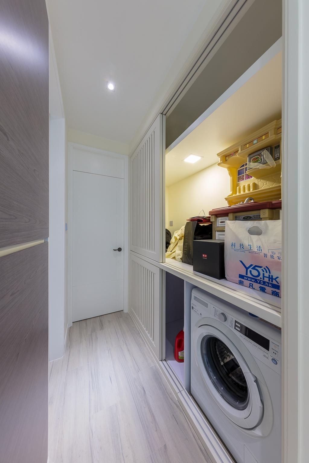 摩登, 私家樓, 廚房, 一號銀海, 室內設計師, 和生設計, Appliance, Electrical Device, Fridge, Refrigerator, Flooring