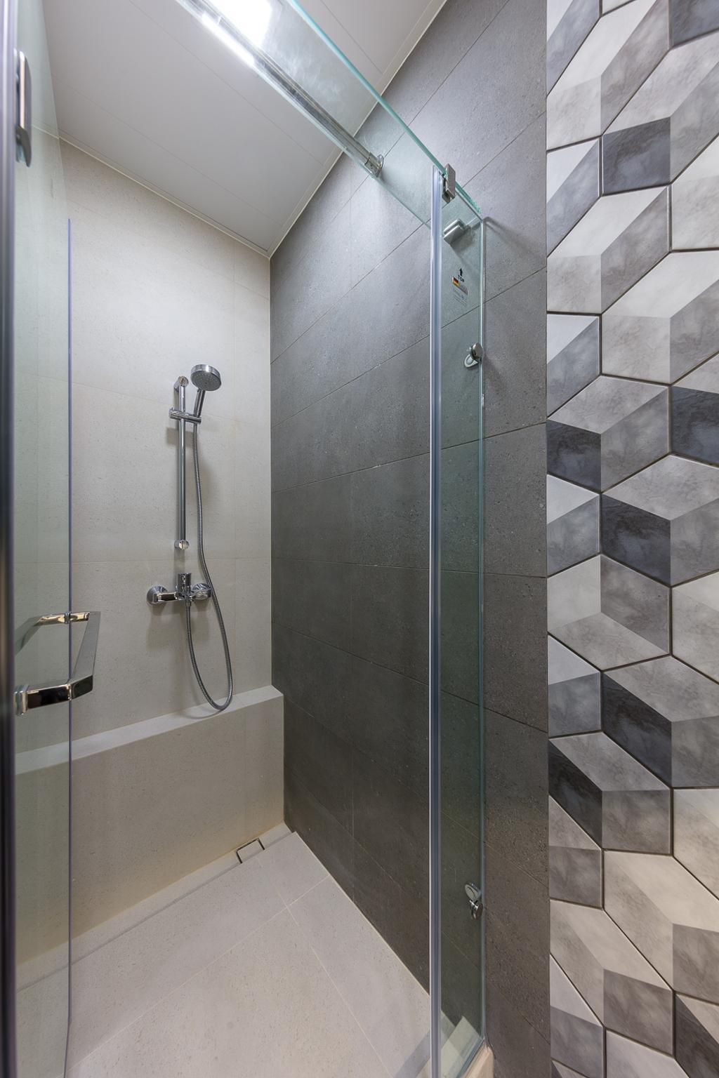 摩登, 私家樓, 浴室, 一號銀海, 室內設計師, 和生設計, Tile