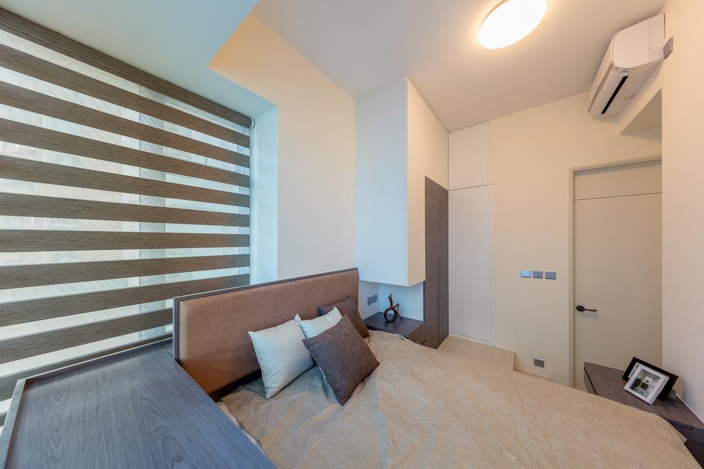 摩登, 私家樓, 睡房, 一號銀海, 室內設計師, 和生設計, Indoors, Interior Design, Room, Clock