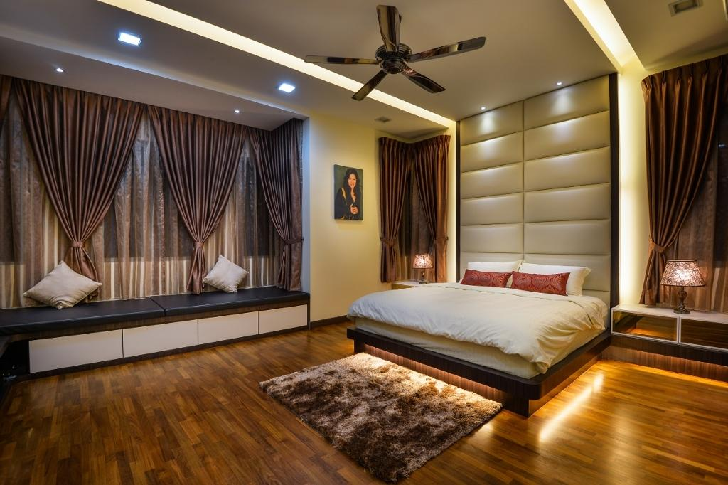 Traditional, Landed, Bedroom, Setia Eco Park 2, Interior Designer, Surface R Sdn. Bhd., Curtain, Home Decor, Indoors, Interior Design, Room, Animal, Arachnid, Invertebrate, Spider