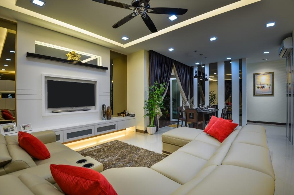 Traditional, Landed, Living Room, Setia Eco Park 2, Interior Designer, Surface R Sdn. Bhd., Couch, Furniture, Apartment, Building, Housing, Indoors