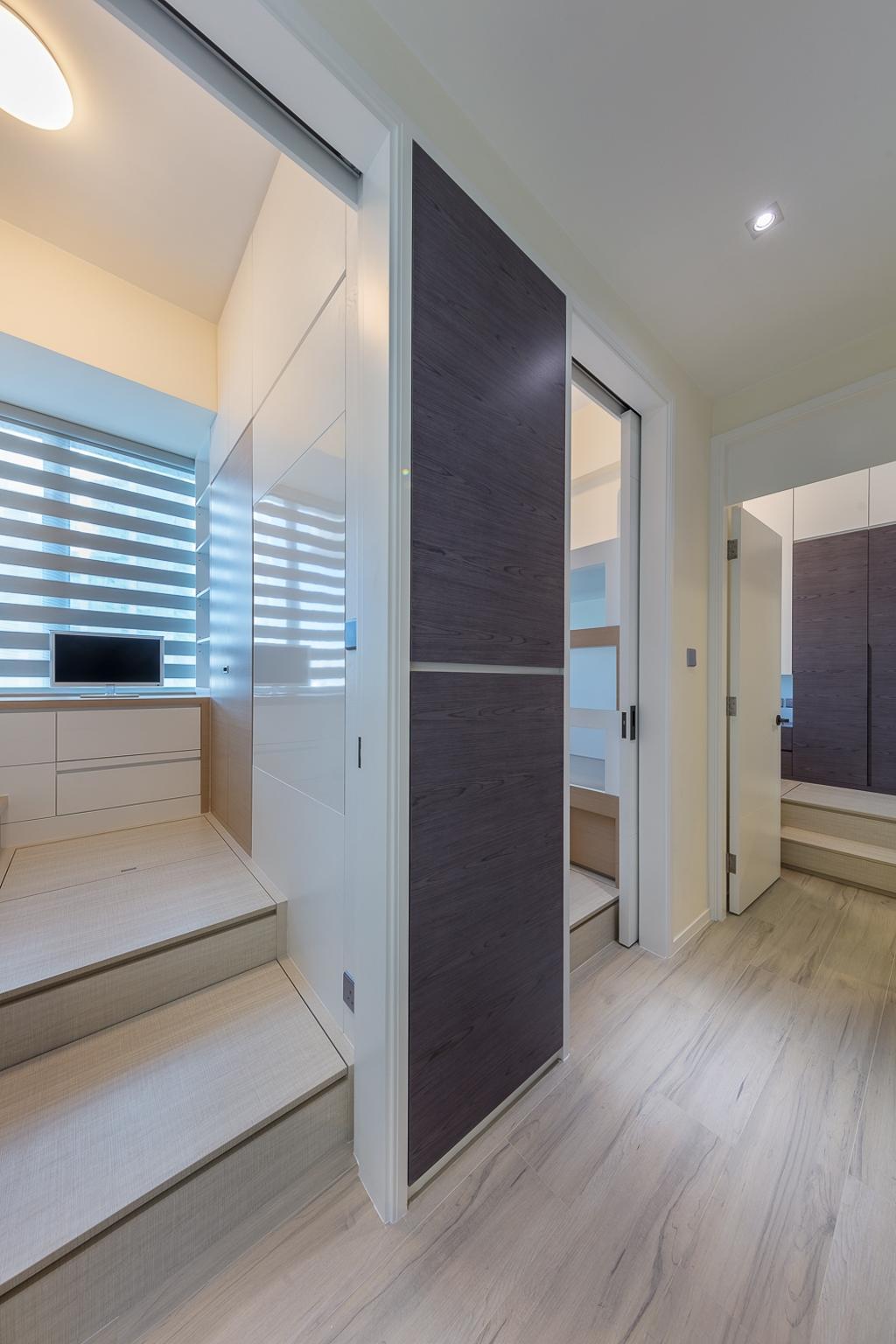 摩登, 私家樓, 一號銀海, 室內設計師, 和生設計, Door, Sliding Door, 浴室, Indoors, Interior Design, Room