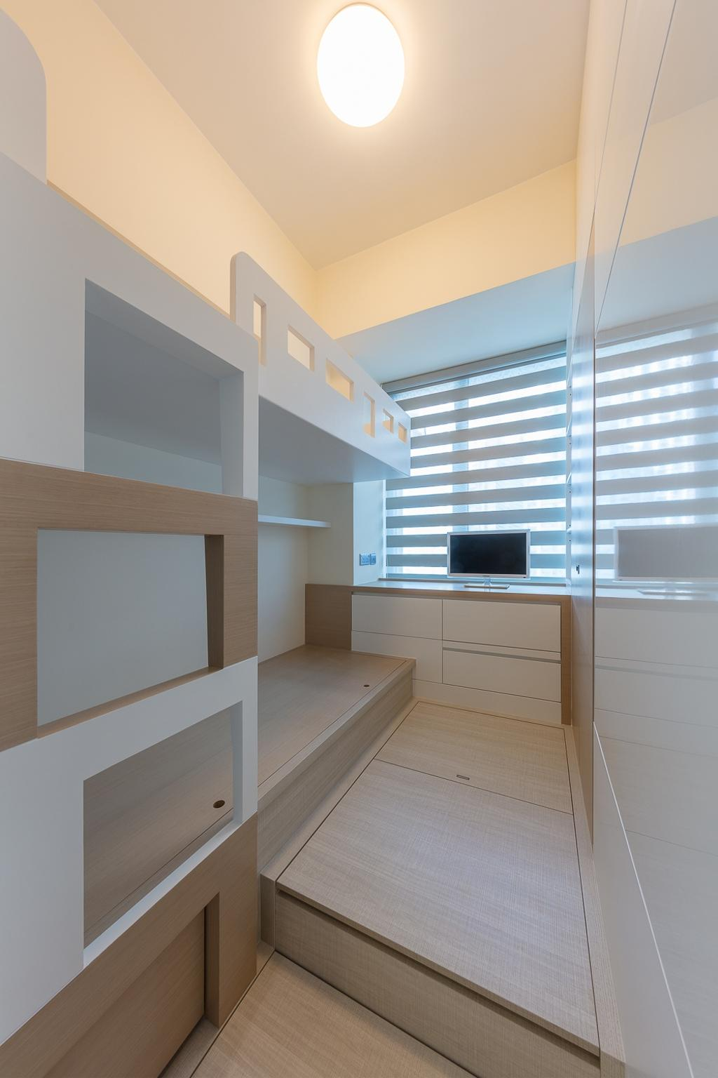摩登, 私家樓, 睡房, 一號銀海, 室內設計師, 和生設計, Shelf, Indoors, Interior Design