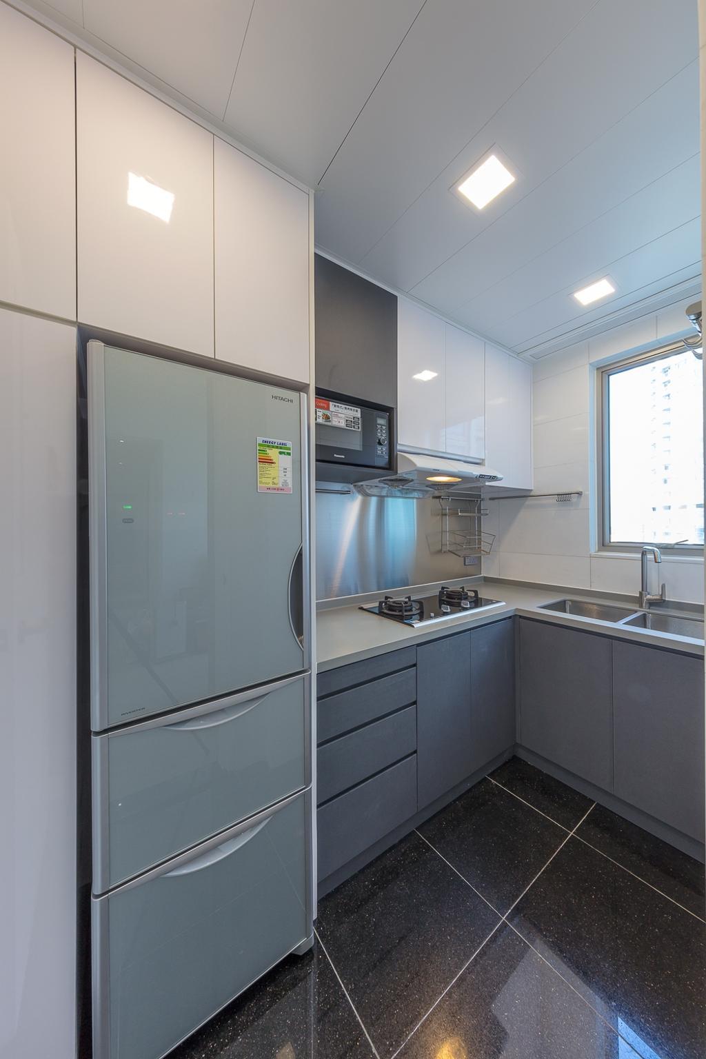 摩登, 私家樓, 廚房, 一號銀海, 室內設計師, 和生設計, Appliance, Electrical Device, Fridge, Refrigerator