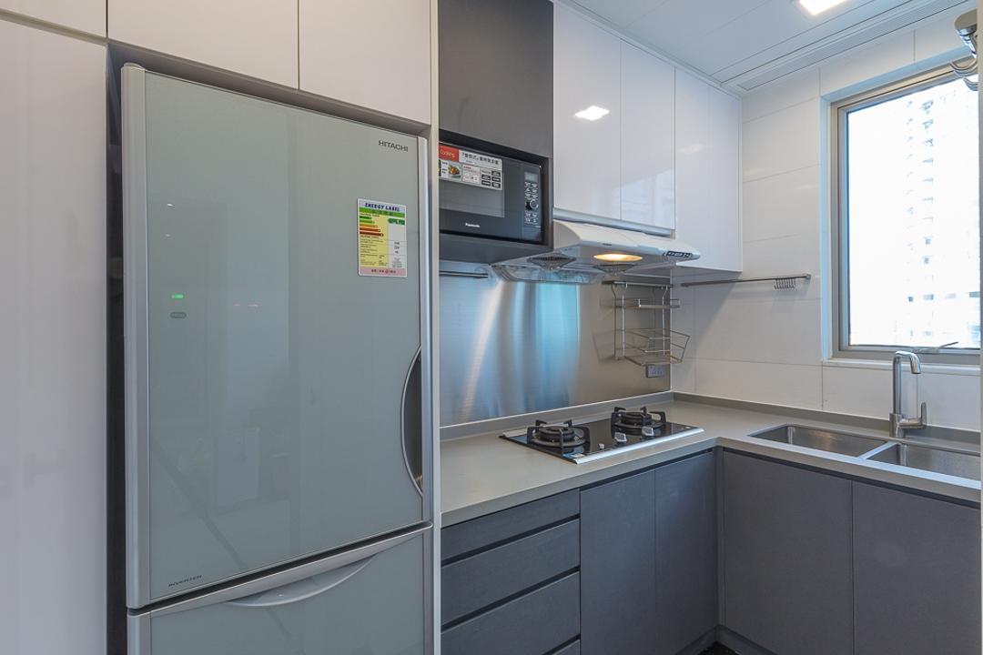 一號銀海, 和生設計, 摩登, 廚房, 私家樓, Appliance, Electrical Device, Fridge, Refrigerator