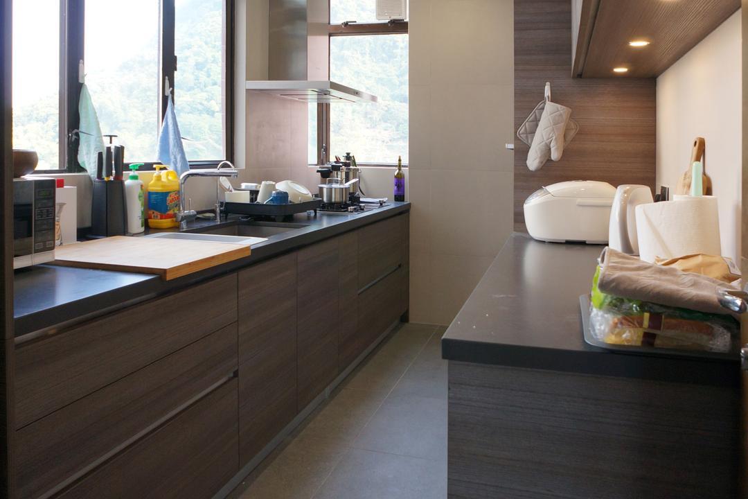 龍騰閣, 和生設計, 簡約, 廚房, 私家樓, Hardwood, Wood, Indoors, Interior Design, Couch, Furniture