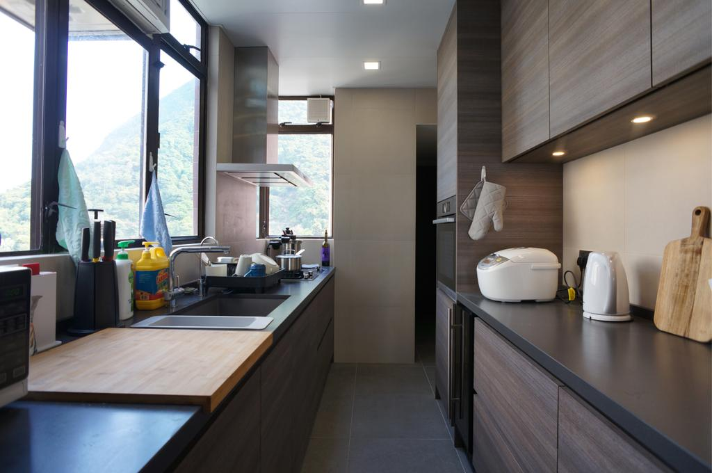 簡約, 私家樓, 廚房, 龍騰閣, 室內設計師, 和生設計, Sink, Indoors, Interior Design, 飯廳, Room