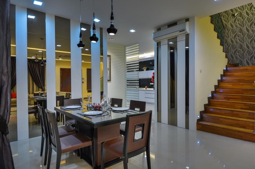 Traditional, Landed, Dining Room, Setia Eco Park 2, Interior Designer, Surface R Sdn. Bhd., Dining Table, Furniture, Table, Indoors, Interior Design, Room