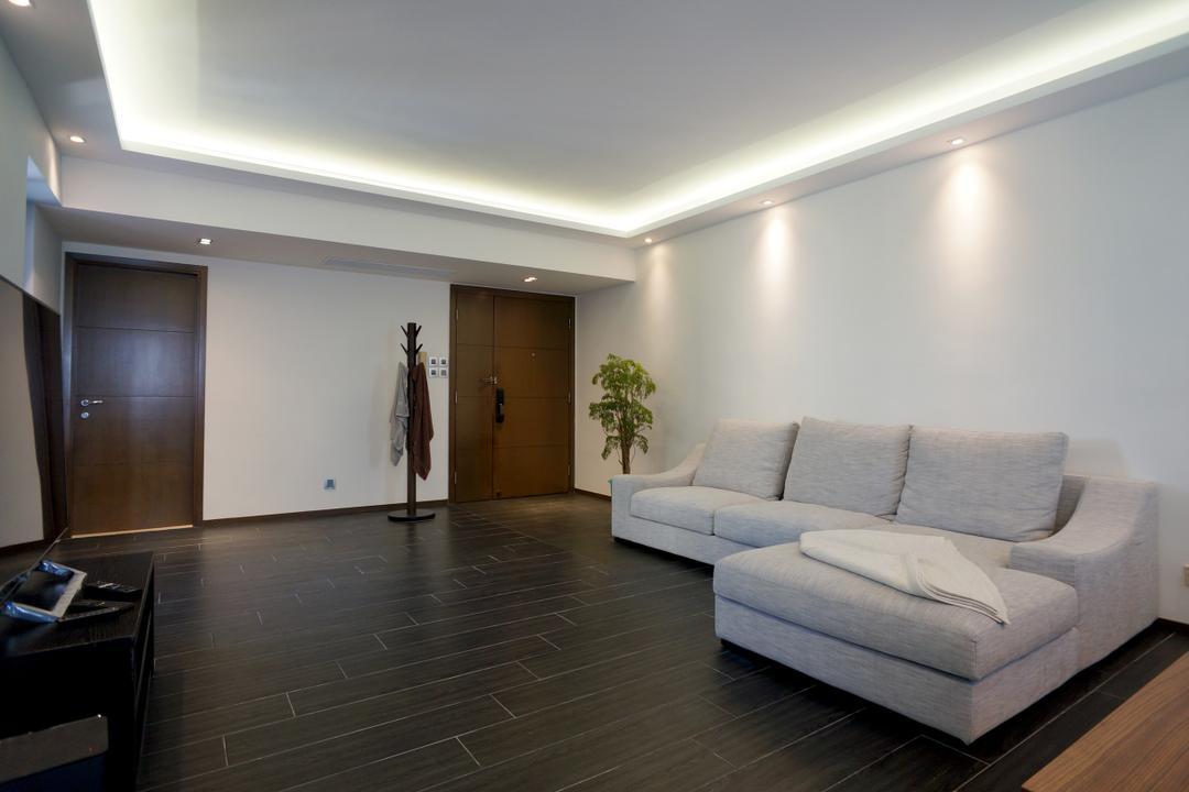 龍騰閣, 和生設計, 簡約, 客廳, 私家樓, Coat Rack, Flooring, Appliance, Electrical Device, Oven, Couch, Furniture