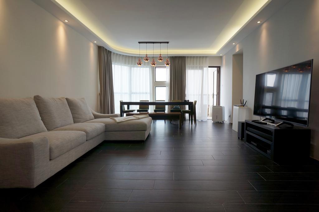 簡約, 私家樓, 客廳, 龍騰閣, 室內設計師, 和生設計, Couch, Furniture, Flooring, Indoors, Room