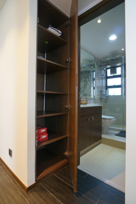 簡約, 私家樓, 浴室, 龍騰閣, 室內設計師, 和生設計, Toilet, Shelf