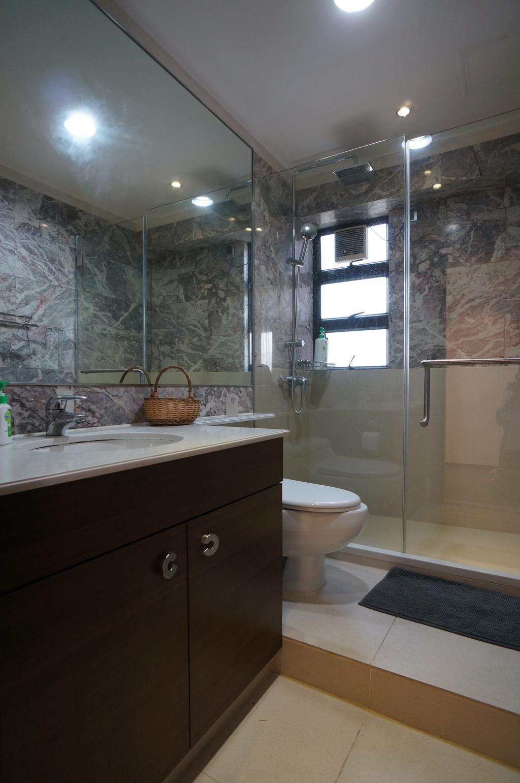簡約, 私家樓, 浴室, 龍騰閣, 室內設計師, 和生設計, Toilet, Basket
