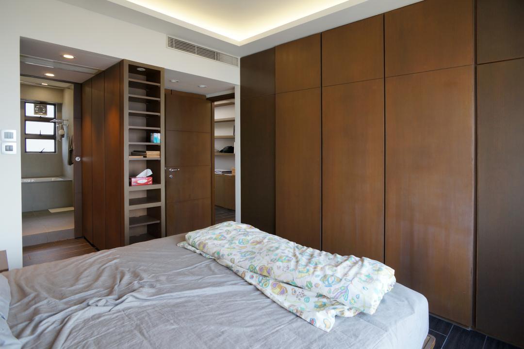 龍騰閣, 和生設計, 簡約, 睡房, 私家樓, Bed, Furniture, Indoors, Interior Design, Room