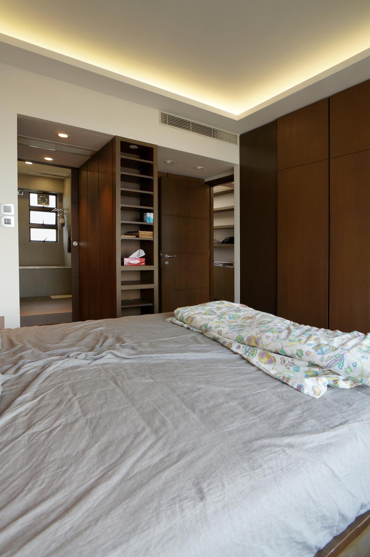 簡約, 私家樓, 睡房, 龍騰閣, 室內設計師, 和生設計, Bed, Furniture, Bookcase