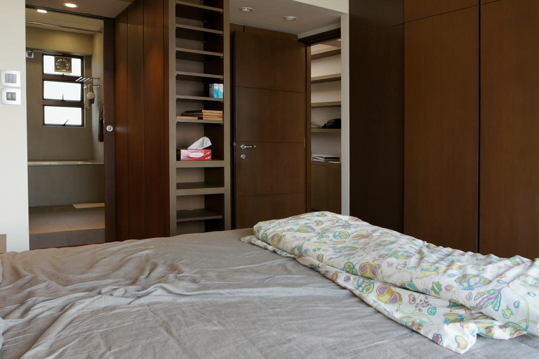 龍騰閣, 和生設計, 簡約, 睡房, 私家樓, Bed, Furniture, Bookcase