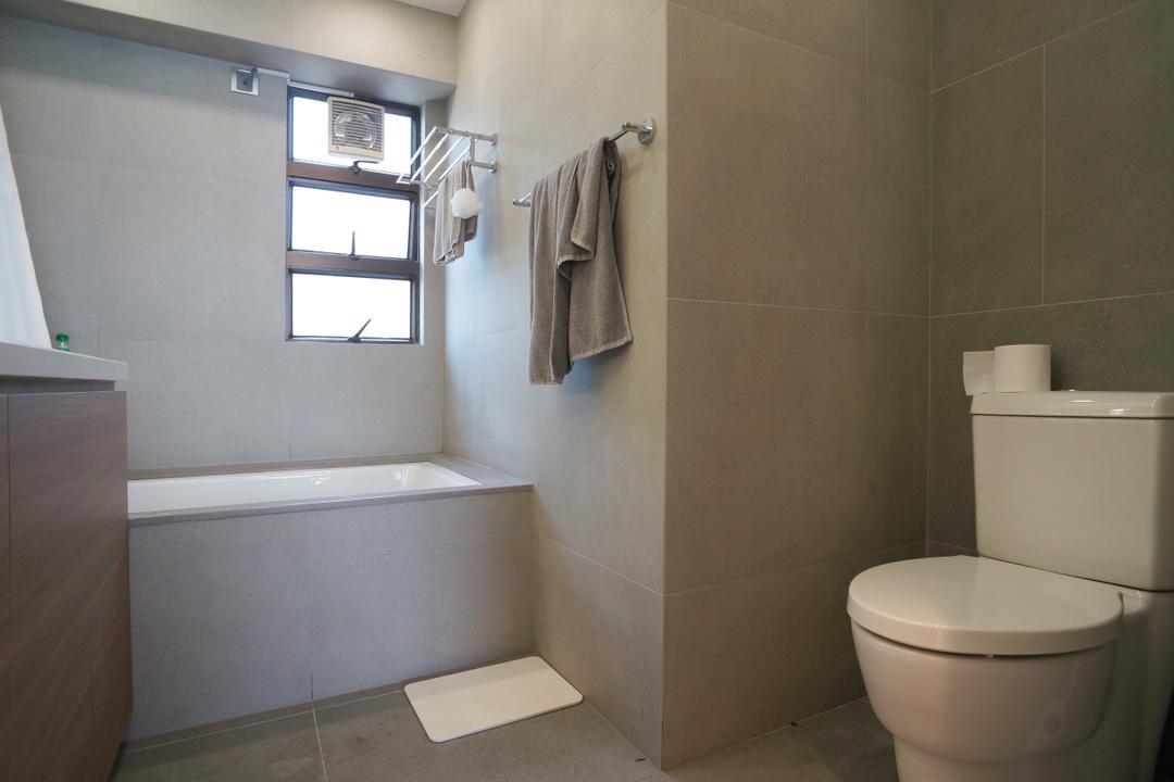 龍騰閣, 和生設計, 簡約, 浴室, 私家樓, Toilet, Indoors, Interior Design, Room