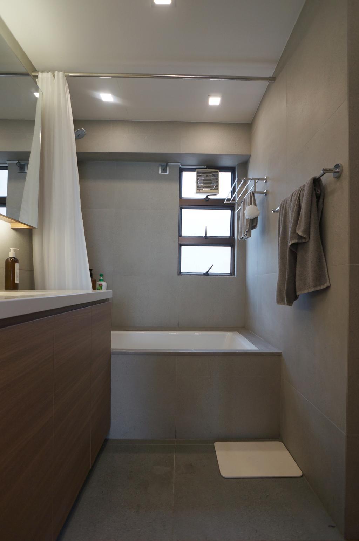 簡約, 私家樓, 浴室, 龍騰閣, 室內設計師, 和生設計, Towel, Indoors, Interior Design