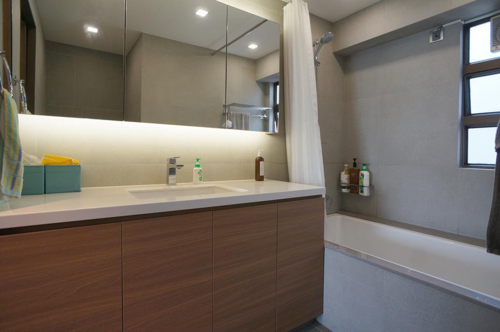 簡約, 私家樓, 浴室, 龍騰閣, 室內設計師, 和生設計, Indoors, Interior Design