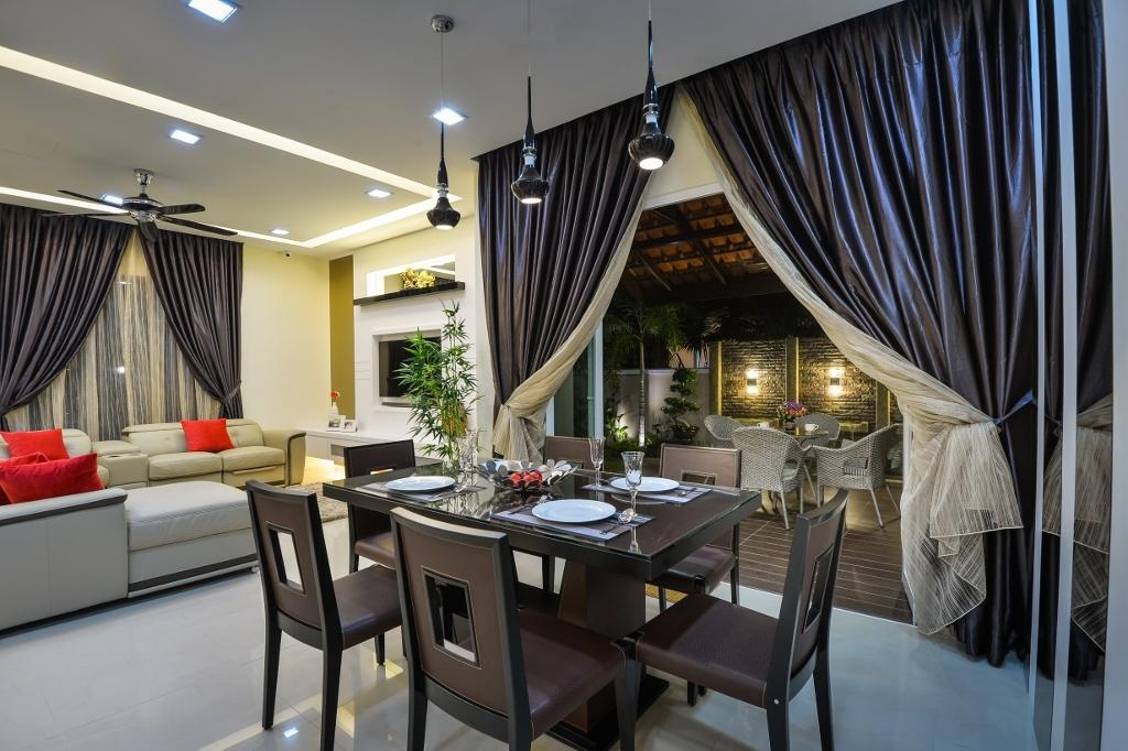 Traditional, Landed, Dining Room, Setia Eco Park 2, Interior Designer, Surface R Sdn. Bhd., Dining Table, Furniture, Table, Couch, Indoors, Interior Design, Room, Appliance, Electrical Device, Oven