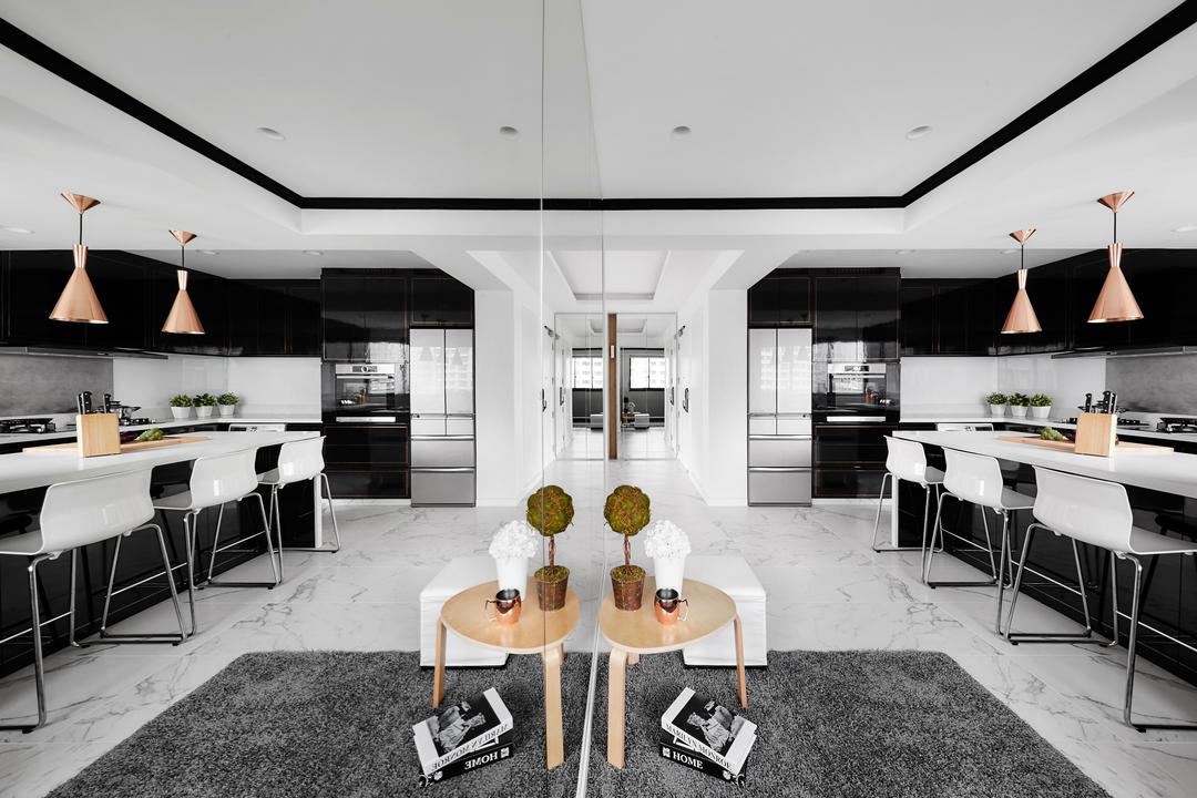 Punggol Drive, akiHAUS, Modern, Dining Room, HDB, Dining Table, Furniture, Table, Chair, Coffee Table