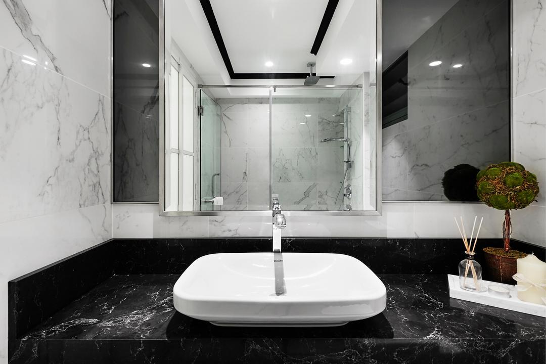 Punggol Drive, akiHAUS, Modern, Bathroom, HDB, Indoors, Interior Design, Room, Bonsai, Flora, Jar, Plant, Potted Plant, Pottery, Tree, Vase